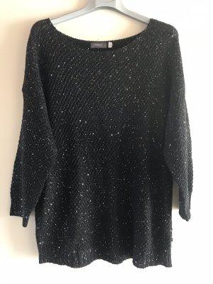 Yessica Pull en crochet noir-argenté