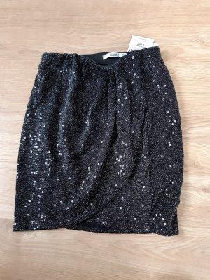 Pull & Bear Mini-jupe noir-argenté