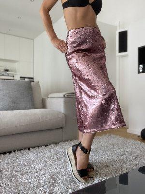 H&M Falda larga rosa