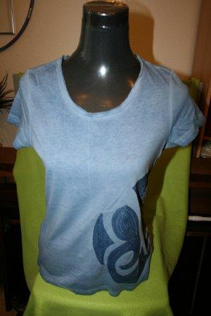 Pailletten Shirt blau Gr. S von esmara - Neu