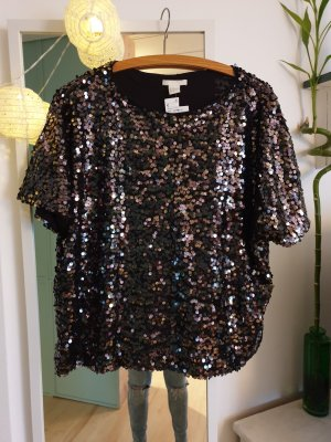 Pailletten Shirt M H&M Party Glitzer