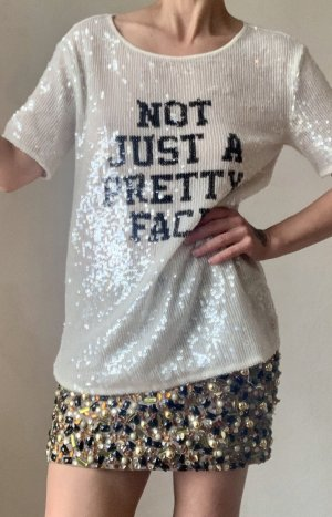 "Pailletten T-Shirt ""Not Just a Pretty Face"""