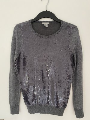 H&M Christmasjumper silver-colored-anthracite