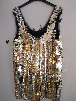 Pailletten Top Gold Zara