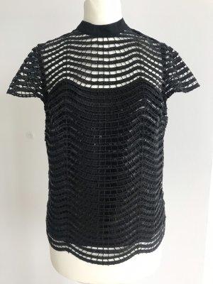 Pailletten-Top Shirt Lipsy London schwarz 34 xs Neu