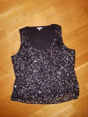 Heine Sequin Dress black-silver-colored