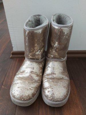 UGG Australia Bottes de neige argenté-gris clair