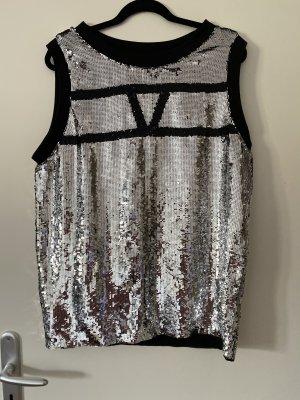 Asos Tanktop zwart-zilver Polyester