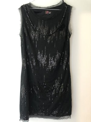 Yumi Robe à paillettes noir-argenté