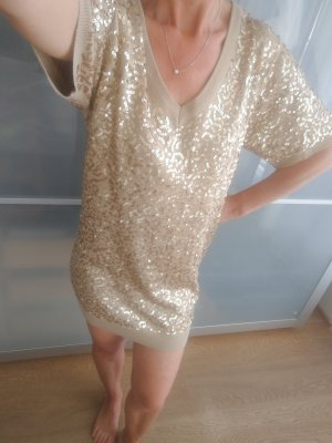Supertrash Robe à paillettes doré-chameau