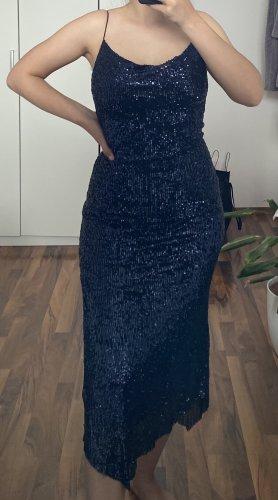 Zara Sequin Dress dark blue