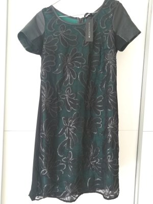 Paillettenkleid aus Viskose und Kunstleder