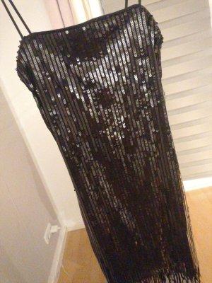 H&M Divided Cekinowa sukienka czarny