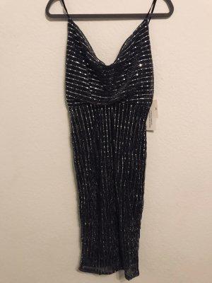 Asos Vestido de lentejuelas negro-color plata
