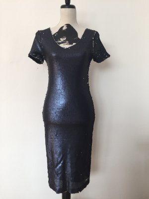 Lily & Me Sequin Dress silver-colored-dark blue