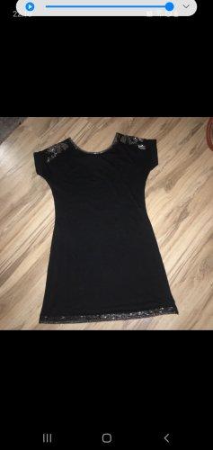 2XTREMZ Robe à paillettes noir-argenté