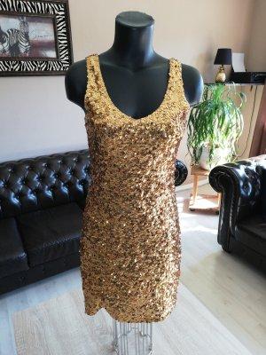 Paillettenkleid Gold