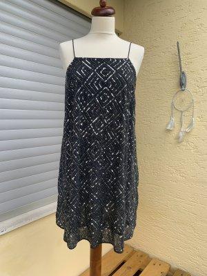 Paillettenkleid in Silber/grau