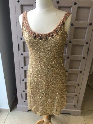 Joyce & Girls Sequin Dress gold-colored