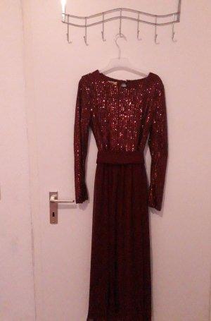 Öz Gürbüz Istanbul Sequin Dress dark red-bordeaux