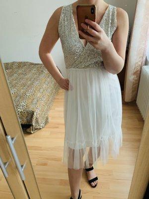 Sequin Dress white