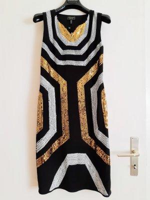 Apart Fashion Cekinowa sukienka czarny-bladożółty