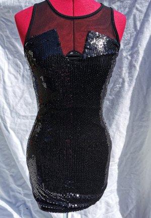 Amisu Cekinowa sukienka czarny