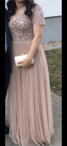 Vestido de baile color rosa dorado-rosa empolvado