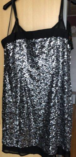C&A Robe de soirée argenté-noir