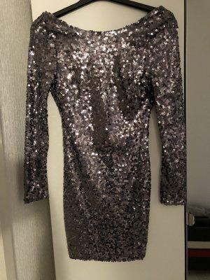 Paillettenkleid Silber grau
