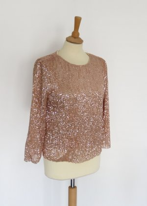 Cherry paris Glanzende blouse roségoud-brons