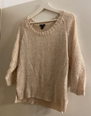 H&M Sweter oversize beżowy-kremowy