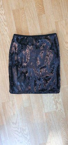 Paillettenrock in schwarz, eng anliegend