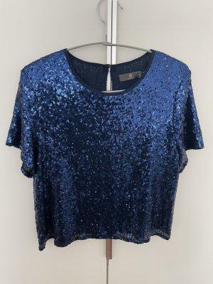 PETITE Cropped shirt donkerblauw