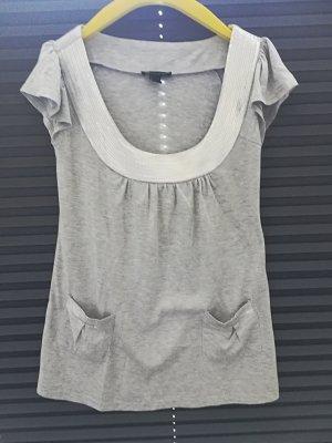 Mango V-Neck Shirt grey