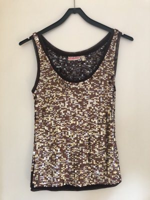 Chillytime Strappy Top gold-colored-brown
