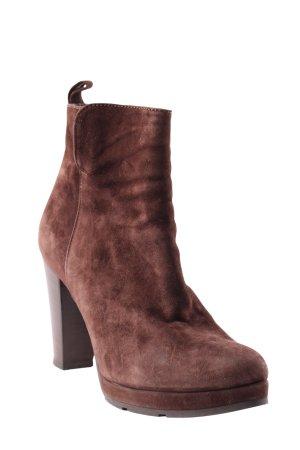 pair footwear Reißverschluss-Stiefeletten dunkelbraun Casual-Look
