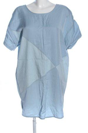 Paisie Vestido estilo camisa azul look casual