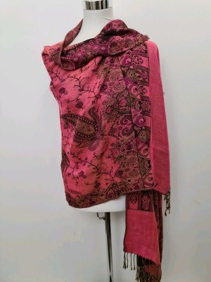 Paisley Schal / No Name / Rosa - Pink