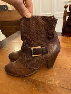 Pakros Booties brown leather