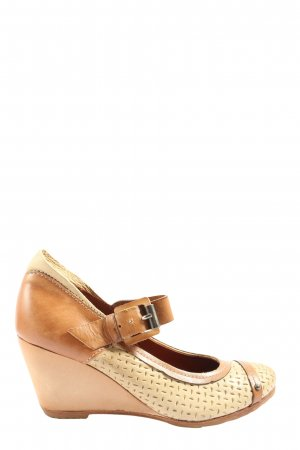 Pakros High Heels braun-creme Casual-Look