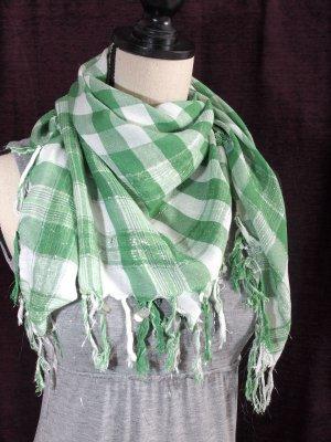 Tela palestino blanco-verde tejido mezclado