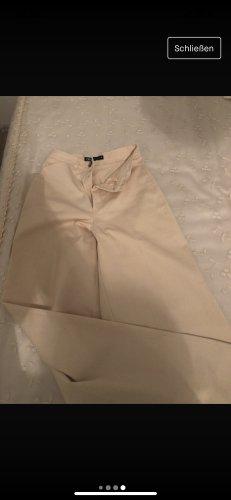 Zara Spodnie palazzo w kolorze białej wełny