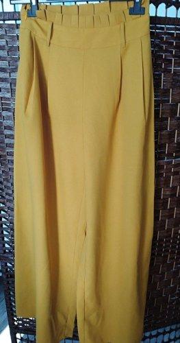 SheIn Pantalone palazzo giallo-oro-giallo scuro
