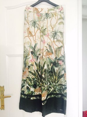 H&M Conscious Exclusive Pallazzobroek wit-bos Groen Viscose