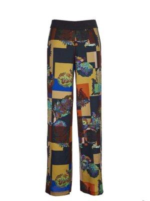 Save the Queen Pantalon palazzo multicolore polyester