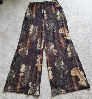 Zara Palazzo Pants brown polyester