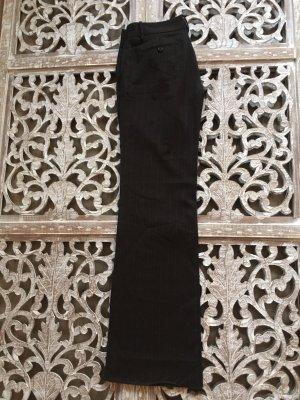 Zara Pallazzobroek zwart bruin-roodbruin Wol