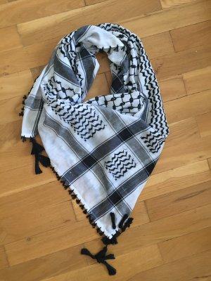 Tela palestino blanco-negro