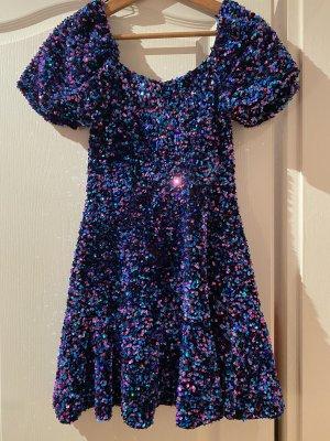Zara Vestido de lentejuelas multicolor